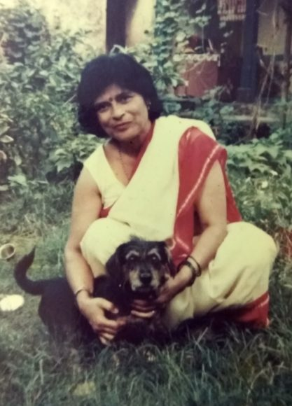 My mom and our first pet